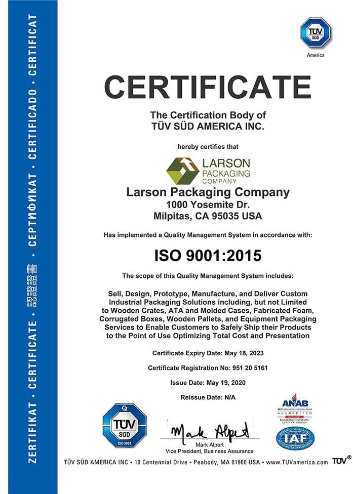 ISO Certificate LPC - Bay Area-rsd